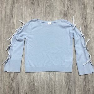 Club Monaco sweater w ties on the sleeves